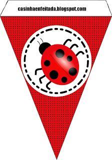 Kit Festa Joaninha Para Imprimir Grátis Lady Bug Banner