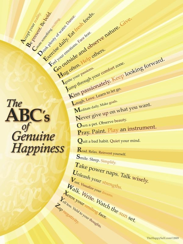 ABC yourself to HappyThoughts, Abc, Happines, Happy Quotes, Life Lessons, Genuine Happy, Inspiration Quotes, Good Advice, Pictures Quotes