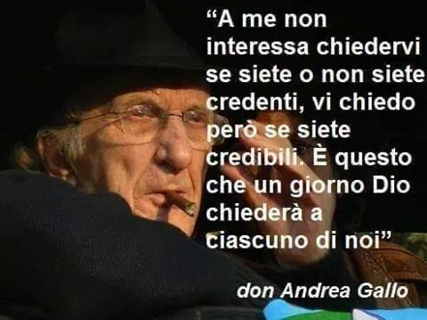 Credibilità - don Gallo