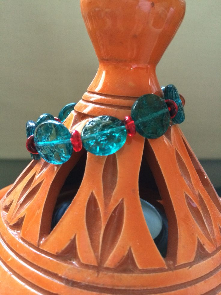 Venetian glass bead stretch bracelet