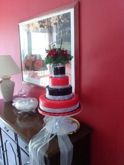 Sparkling Red Velvet cake