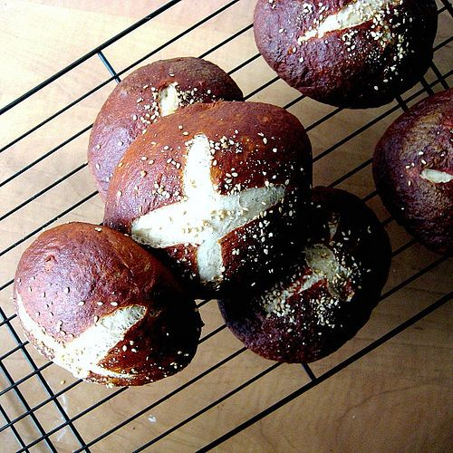 ... Burgers on Homemade Pretzel Rolls - Joanne Eats Well With Others