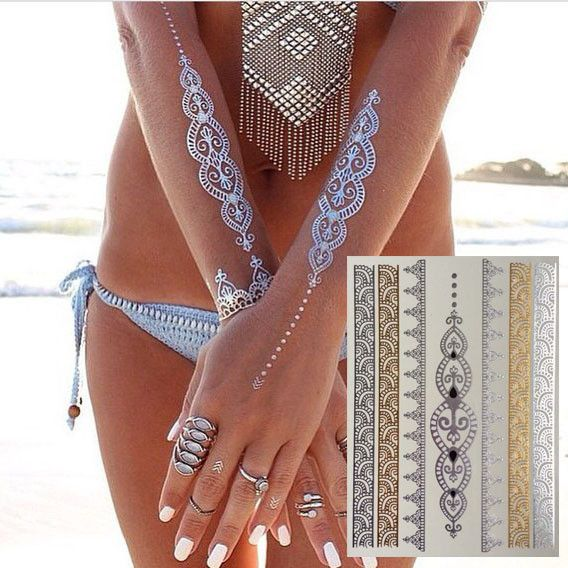 17 best images about metallic flash temporary tattoos on for Temporary metallic tattoos