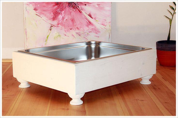 XXL Katzentoilette aus Holz und Edelstahl  von Manufaktur Wiesengrund auf DaWanda.com