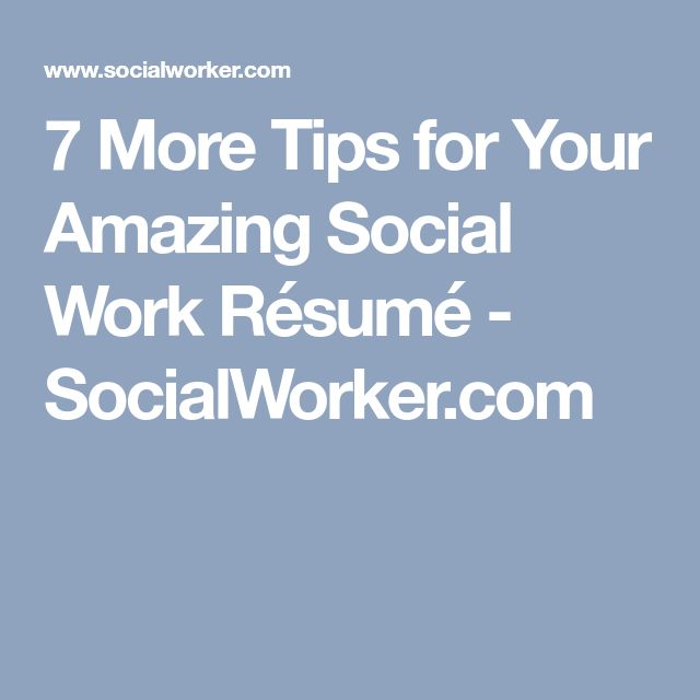 Best 25+ Resume work ideas on Pinterest Resume builder template - social worker resume