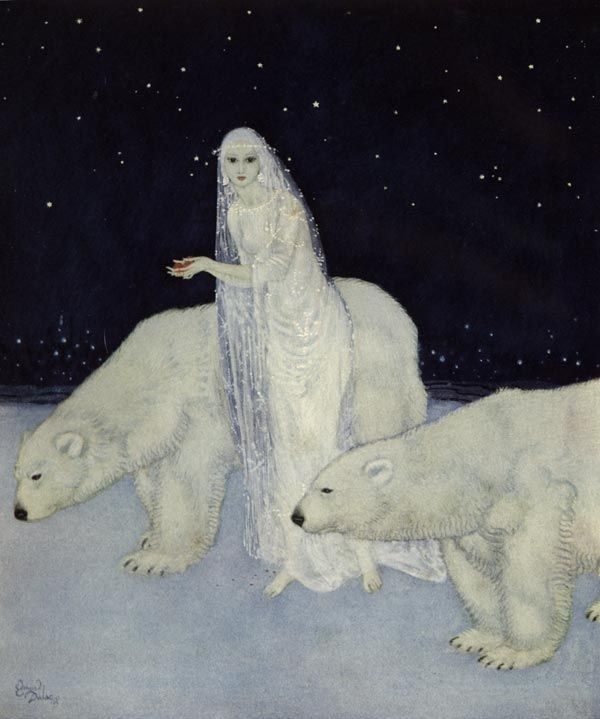 Title: Everything about her was white - The Dreamer of Dreams by the Queen of Roumania - Edmund Dulac