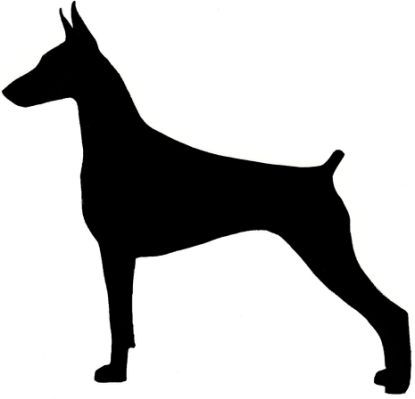 doberman silhouette source http