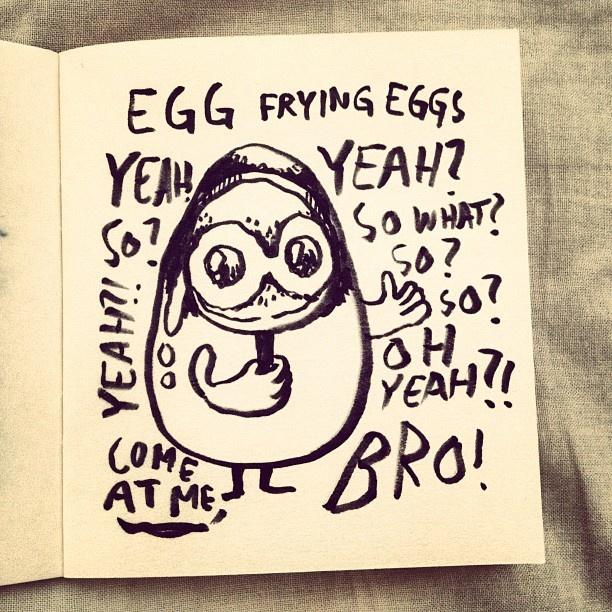 Crazy eggs everywhere. #tinyvoodoo #sketch #sketchbook #comics #drawmore #comic #draweveryday #draw #drawing #iliketodraw #illustration #illustrator #doodle #doodling #sarjakuva