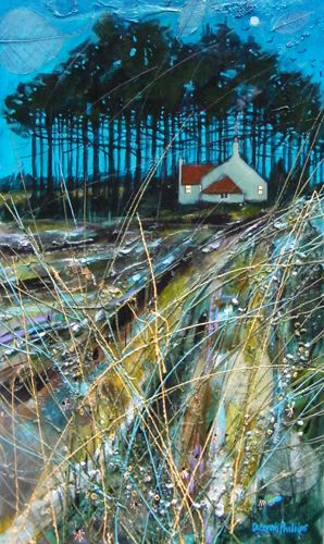 Deborah Phillips_Moonlight near Belay Bridge_Acrylics_19.5x11.5