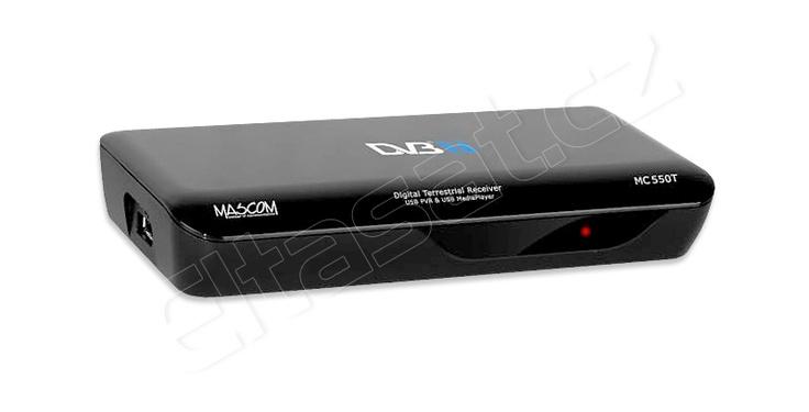 Mascom MC 550T-USB je multimediální set-top-box, který je vyráběný v české republice v černém provedení.