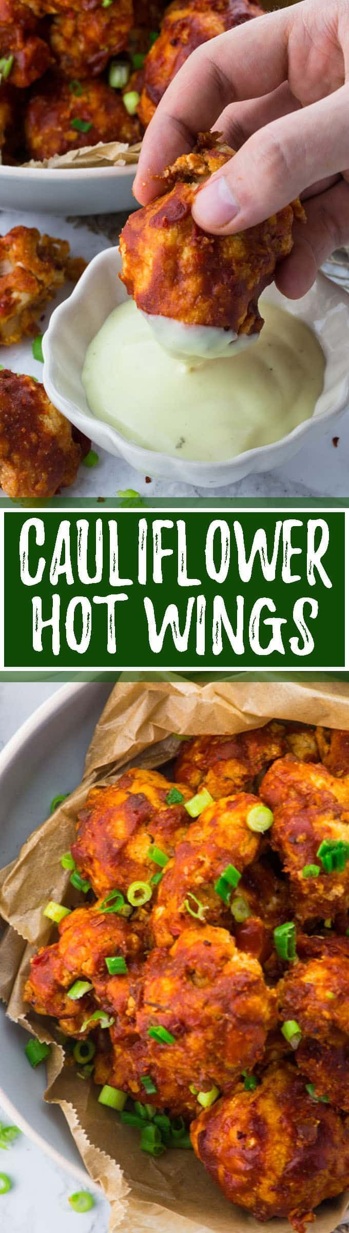 These vegan cauliflower hot wings are the perfect comfort food. They're so tangy & spicy! Such a delicious vegan recipe. I like them best with vegan aioli. Or fill them in pitas and you got an amazing vegan dinner! Big YUM!!