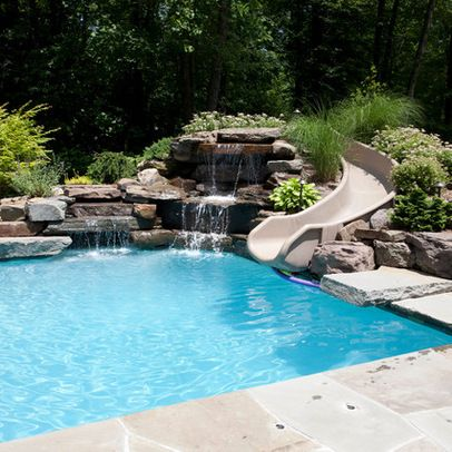 Best 25 pool slides ideas only on pinterest pool with for Water pool design