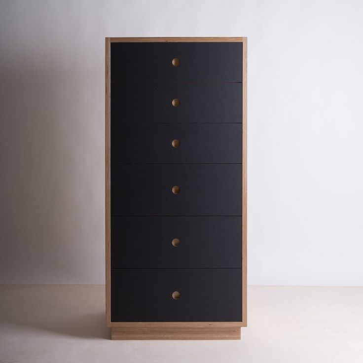 Birch plywood tall boy with lino drawer fronts quality for Furniture quality plywood