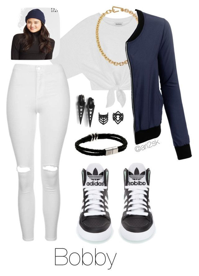 """""""Club date with Bobby ✖️"""" by ari2sk ❤ liked on Polyvore featuring Calvin Klein, LE3NO, Aéropostale, Topshop and adidas"""