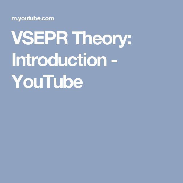 VSEPR Theory: Introduction - YouTube