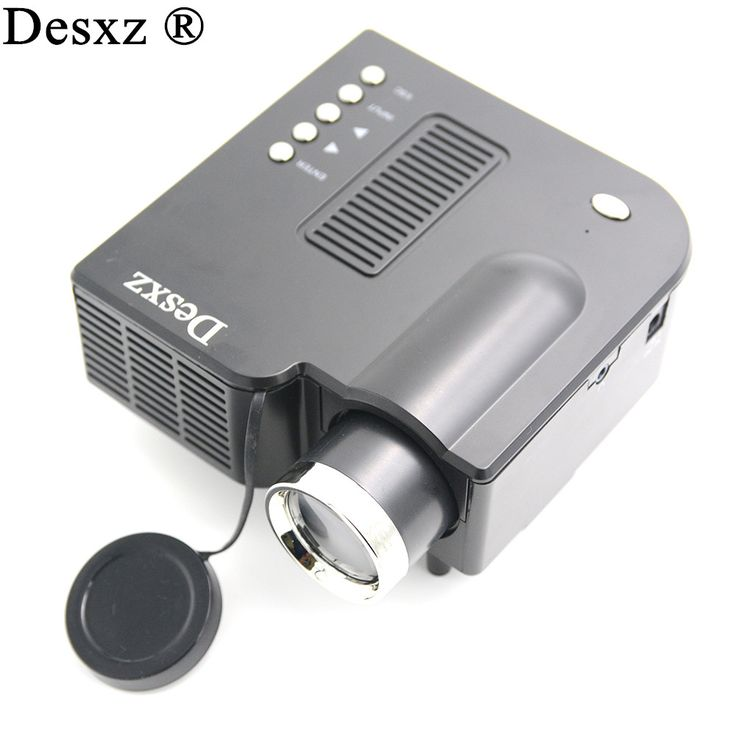 "Desxz Proyector Full HD 60"" Portable mini LED Projector Cinema Theater Projetor Video Support PC Laptop VGA for office tv home #Affiliate"