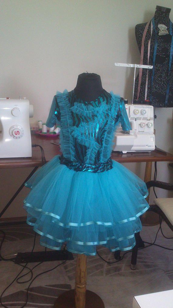 Комплект юбка пачка туркуаз фатиновая для девочки 7 лет-122