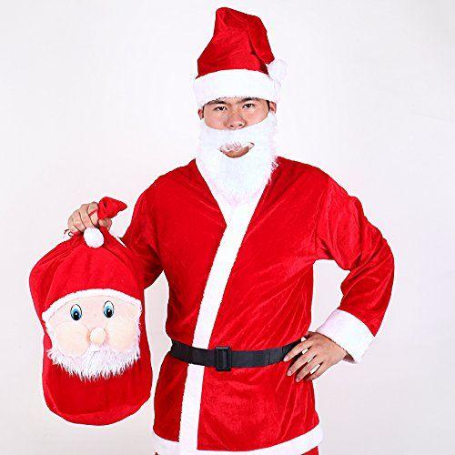 Septven Déguisement Père Noël Luxe (Vêtements + Sac à dos): Tout neuf et de haute qualité ; Idéal pour la fête de Noël, fête costumée Bon…
