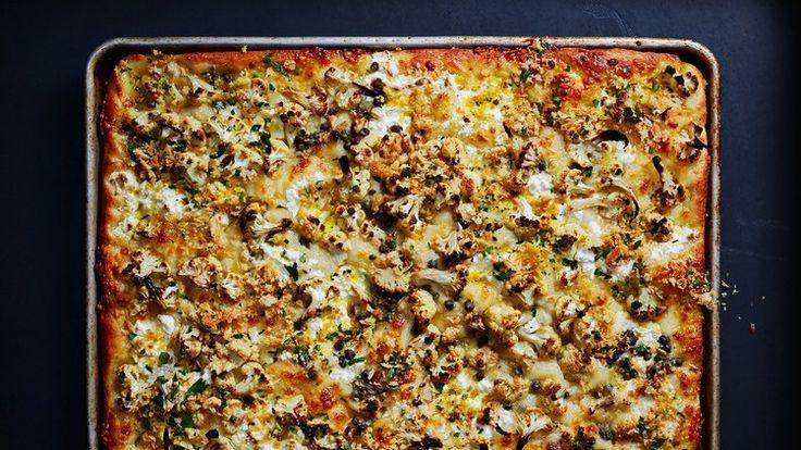 Roasted Cauliflower and Ricotta Grandma Pie Recipe | Bon Appetit