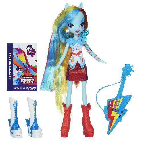My Little Pony Equestria Girls Rainbow Dash Doll with Guitar | shopswell