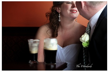 Weddings in Ireland, sneaky pint of guinness.  Location - Doonbeg Resort  Wedding Planner - Michelle @Dream Irish Wedding & Mc Events