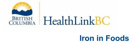 Iron and Your Health. How much iron do I need?