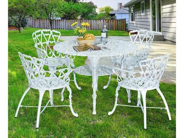 Antique Victorian Cast Aluminum Patio, Solid Cast Aluminum Patio Furniture