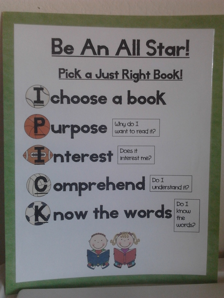 17 Best images about guided reading on Pinterest Good books - pick chart