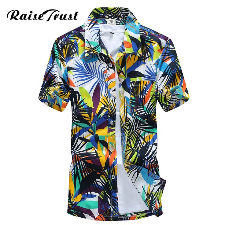 Mens Hawaiian Shirt Male Casual camisa masculina Printed Beach Shirts Short Sleeve 2017 New Fashion Brand Asian SizeM-5XL