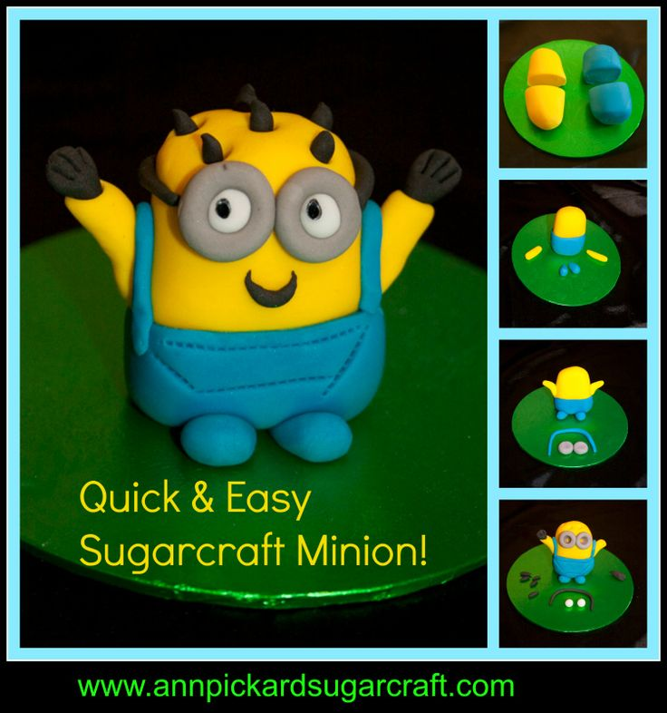 4 easy steps to make a cute sugarcraft Minion