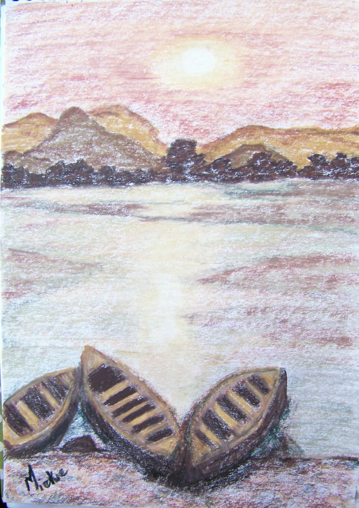 Docked. Coloured pencils on paper. A5 size. R50 unframed.