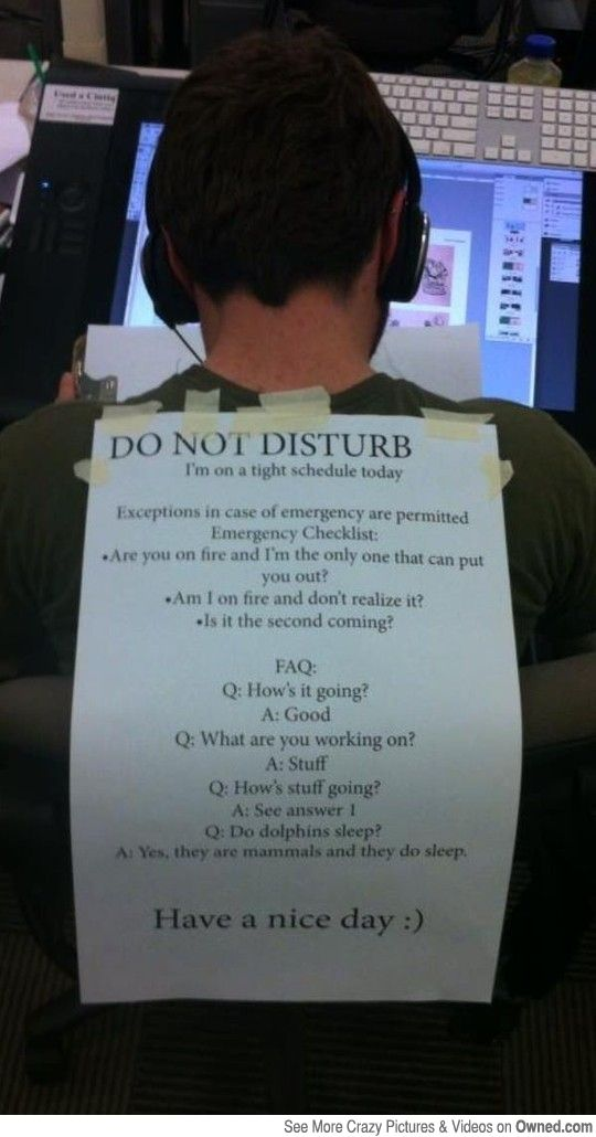 Do not disturb. Have a nice day! Sometimes I need to have this pinned on my forehead!!!!
