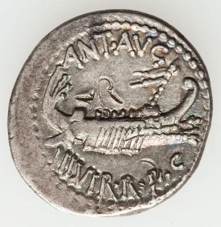 Ancients:Roman Republic, Ancients: ROMAN REPUBLIC. Mark Antony as Imperator (44-31 BC). ARlegionary denarius (3.54 gm).... Image #1