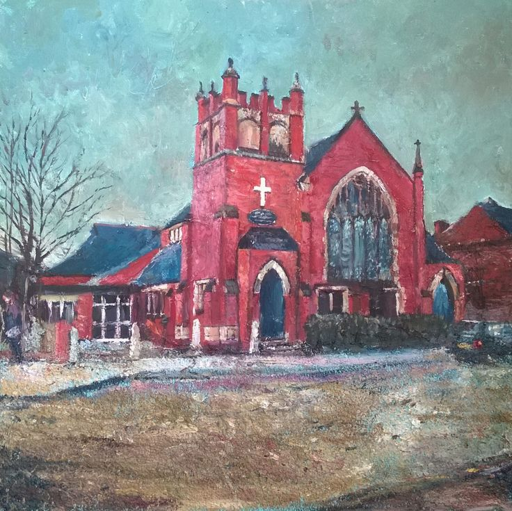 https://flic.kr/p/yJab2E | Parkside Methodist Church Outwood Wakefield West Yorkshire New Painting | The Church I attended when I was young, oil 16 x 16 inches