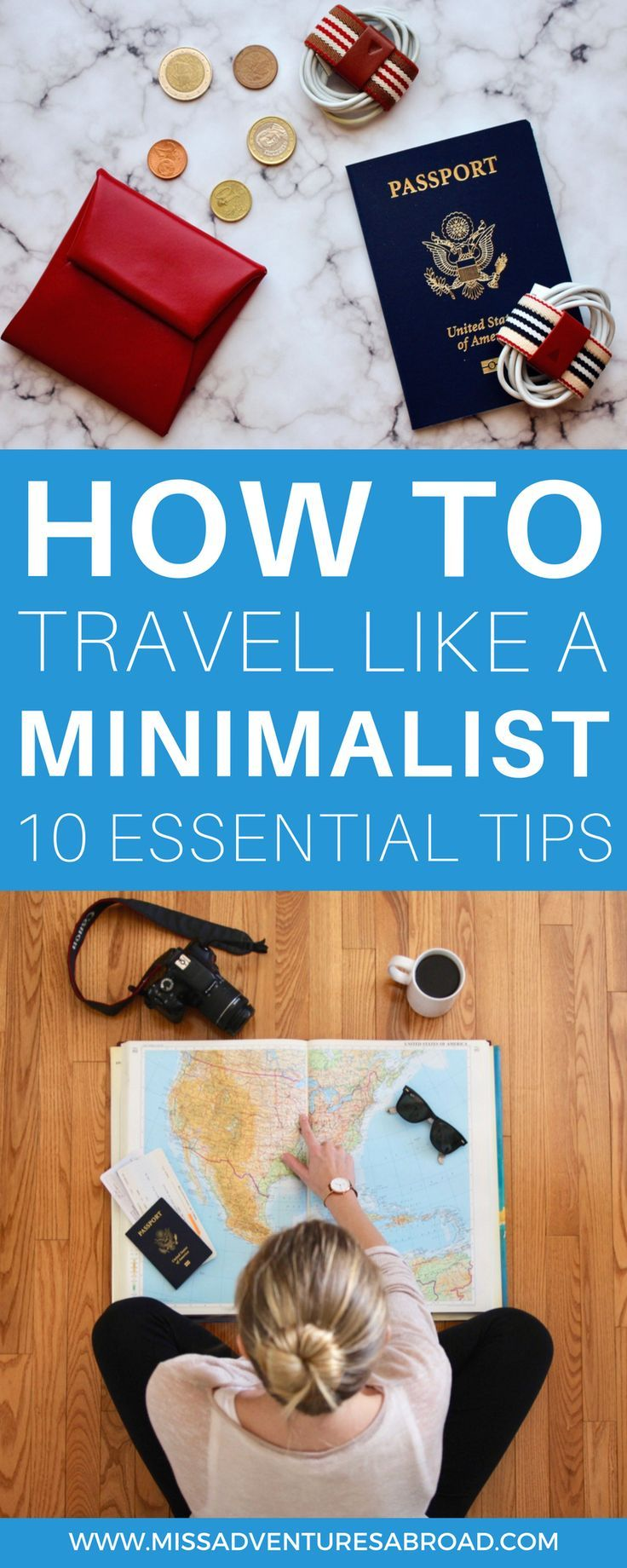 How To Travel Like A Minimalist: 10 Essential Tips. Have you ever wondered what it would be like to travel like a minimalist! Follow these 10 tips to learn how to simplify your travels and apply the concepts of minimalism to your adventures. By packing less, you'll be able to travel more deeply and more often!