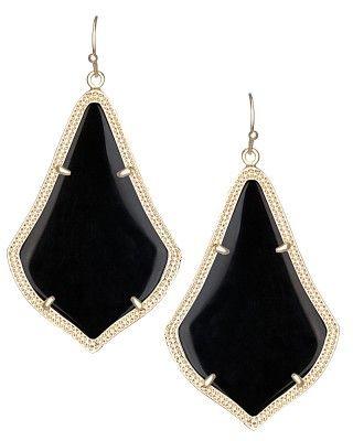 Alexandra Earrings in Black - Kendra Scott Jewelry