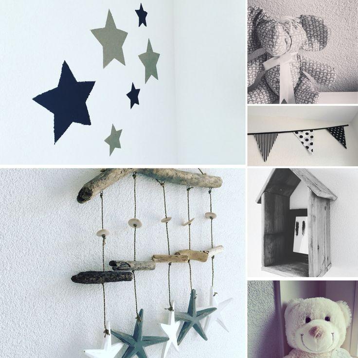 Impressie babykamer zwart/wit