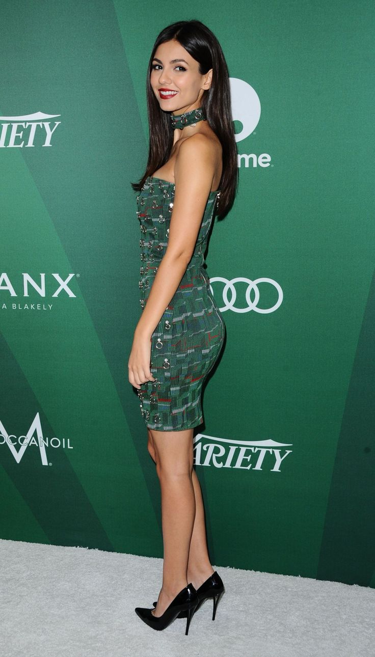 """bestcelebritylegs: """" prettygirl-pics: """"  Victoria Justice – 2016/10 Variety's Power of Women Sponsored by Audi in Los Angeles 10/14/ 2016 """" Victoria Justice lovely legs and curves in a strapless mini dress and pumps """" tight mini dress and high heels..."""