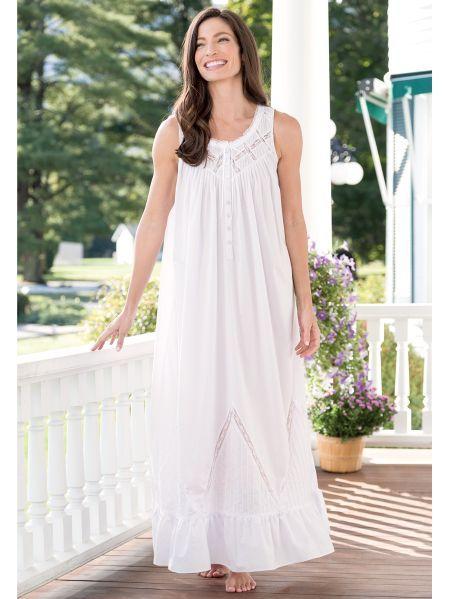 df925ebd5d Eileen West Moonlight Sonata Long Cotton Nightgown