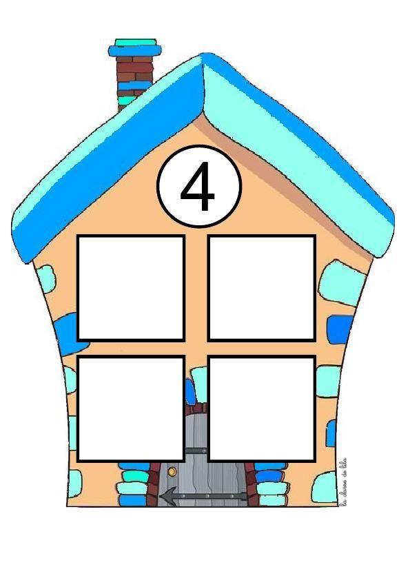 Домик с четырьмя окошками картинка