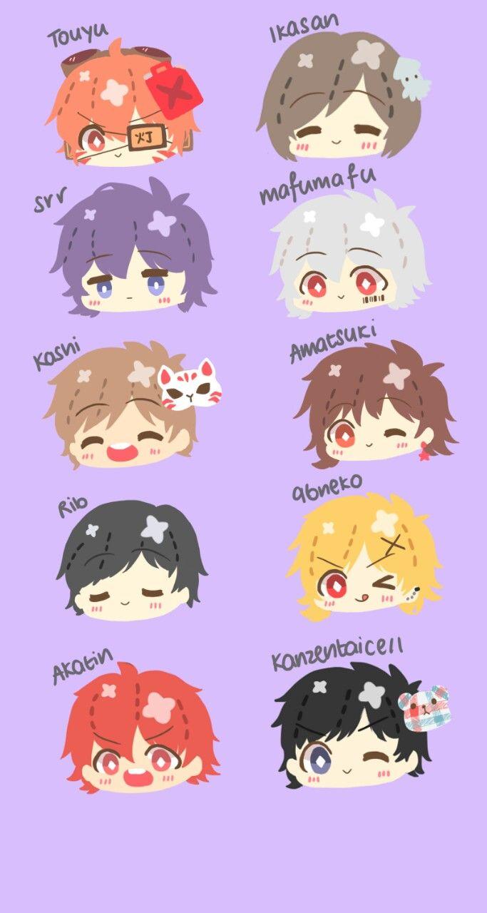 Touyu, Ikasan, Srr, Mafumafu, Kashi, Amatsuki, Rib, 96neko, Akatin, Kanzentaicell