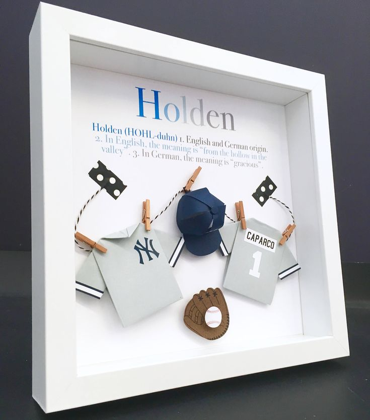 67 best newborn baby shower gifts images on pinterest baby personalized baby name origin and meaning paper origami baseball new york yankees shadowbox frame newborn baby negle Gallery
