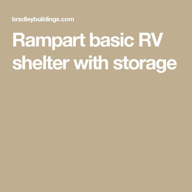 Rampart basic RV shelter with storage