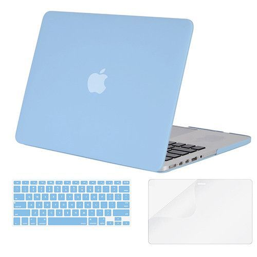 Mosiso 3 in 1 Rubberized Plastic Laptop Case Cover for Macbook Pro 13 inch with Retina Display A1502 A1425 with Keyboard Cover