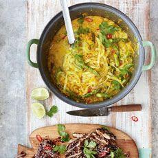 Thai Chicken Laksa Mildly Spiced Noodle Squash Broth