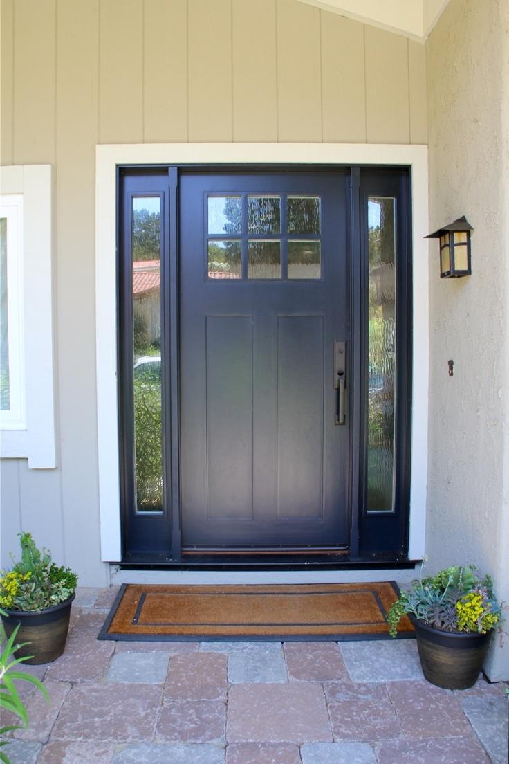 Craftsman Door From Lauren S House Blue Outside White