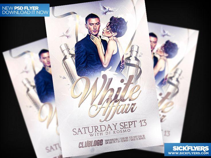 All White Party Flyer Template PSD by Industrykidz.deviantart.com on @deviantART