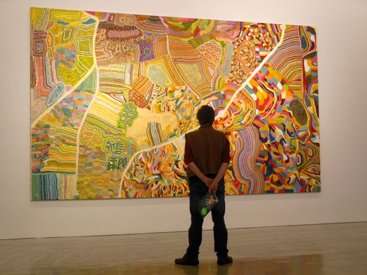 Martu exhibition, MCA, Sydney Oct. 2014 - Indigenous paintings from the Western Desert