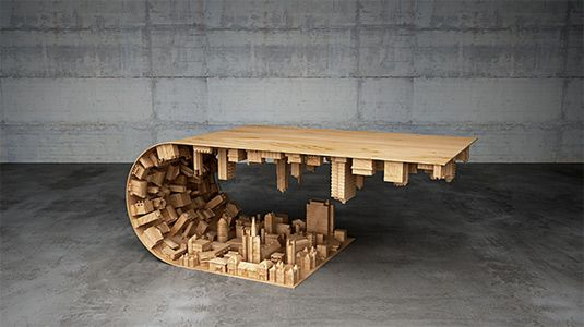 3D Inception-style desk bends reality