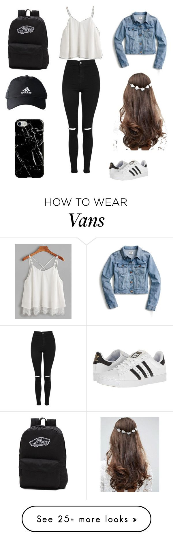 """""""Tumblr Whit Girl"""" by michaelamaeberg101 on Polyvore featuring adidas, Topshop, J.Crew, Vans, ASOS and Recover"""